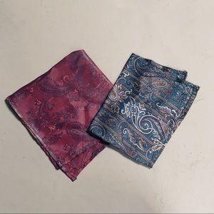 Vintage Pocket Square Pair